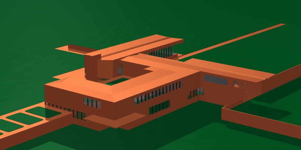 ドイツ近代建築のコンピューター・グラフィックスによる再表現
