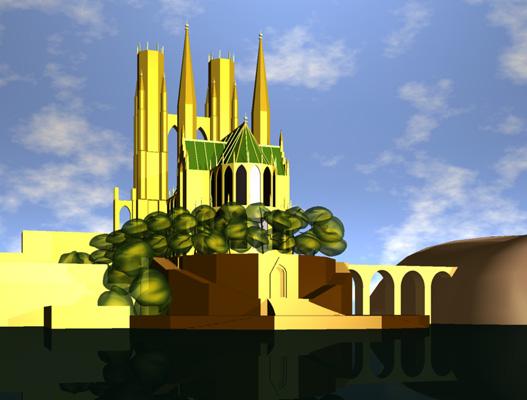 ドイツ新古典主義建築の歴史的透視図